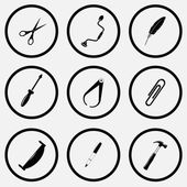 Tools set icons — Stock Vector