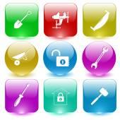 Industrial tools set — Stock Vector