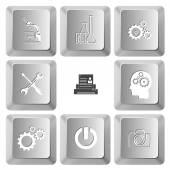 Set of computer keys — Stock Vector
