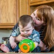 Mother Plays With Her Baby — Stock Photo #53399289