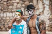 Pair of Male Cirque Performers — Stock Photo