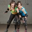 Aggressive Roller Derby Skaters — Stock Photo #53816859