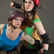 Female Roller Derby Skaters — Stock Photo #53817503
