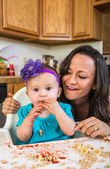 Mother Smiles With Baby — Stock Photo