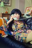Smiling Lady talking on Phone — Stock Photo