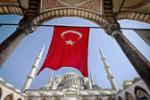 Turkish Flag at the Blue Mosque — ストック写真