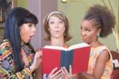Three Women Studying — Stock Photo