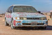 Bible Car Art Installation — Stock Photo
