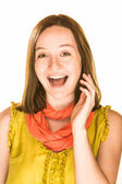 Pretty laughing girl — Stock Photo