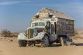 Bible Truck Outsider Art Installation — Stock Photo