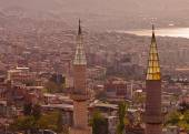 Minarets in Izmir Turkey — Stock Photo