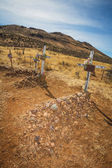 Desert Cemetery Graves — Stock Photo