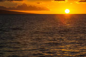 Sunset over the pacific ocean — Stock Photo