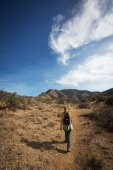 Hiker Rear View — Stock Photo