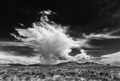 Dramatic Clouds in Desert — Stock Photo