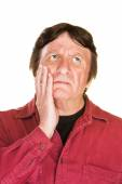 Lost Man with Hand on Cheek — Stock Photo
