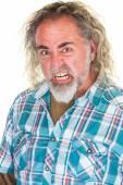 Furious Man with beard — Stock Photo