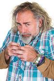 Panicking middle aged Man — Stock Photo