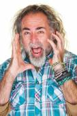 Terrified Man Streaming — Stock Photo