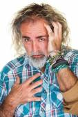 Man with Long Hair — Stock Photo