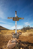 Stone Grave with Blank Frame — Stock Photo