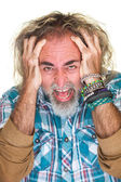 Angry Guy Pulling Hair — Stock Photo