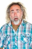 Surprised Man with Beard — Stock Photo