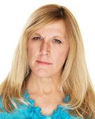 Annoyed Middle aged Lady — Stock Photo