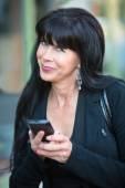 Attractive Woman with Mobile Phone — Stock Photo