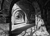Black and White Stone Arches in Turkey — Stock Photo