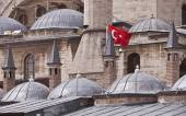 Flag on Konya Building in Turkey — Stock Photo