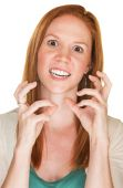 Furious Lady Gesturing — Stock Photo