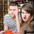 Irritated Woman with Man — Stock Photo #76284159