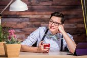 Lesbian Woman With Hand on Cheek — Stock Photo