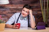 Dapper Businesswoman Listening — Stock Photo