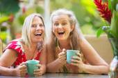 Female friends on holiday — Stock Photo