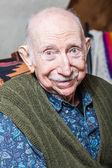 Elder man smiling — Stock Photo