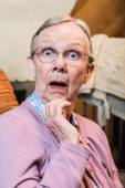 Surprised old matron woman — Stock Photo
