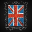 British flag in frame. — Stock Vector #55043771