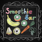 Smoothie bar. Lettering. — Vettoriale Stock