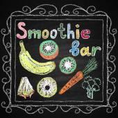 Smoothie bar. Lettering. — Stockvector