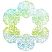 Elegant lacy watercolor doily. — Stock Vector