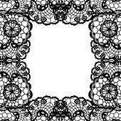 Elegant doily on lace gentle background. — Cтоковый вектор