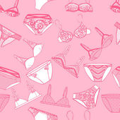 Seamless pattern. Bra and panties. — Stok Vektör