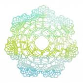 Elegant lacy watercolor doily. — ストックベクタ