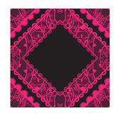 Elegant doily on lace gentle background. — Stock Vector