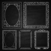 Set of frames. Chalk on board — Stock Vector
