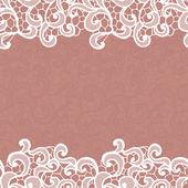 White vector lace — Stock vektor