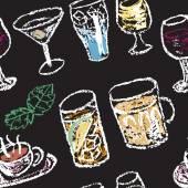 Hand drawn cups — Vector de stock
