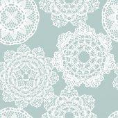 Lace white seamless mesh pattern — 图库矢量图片